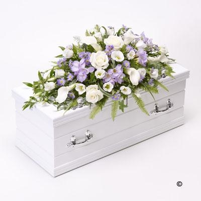 Children's Casket Spray   Blue and Lilac