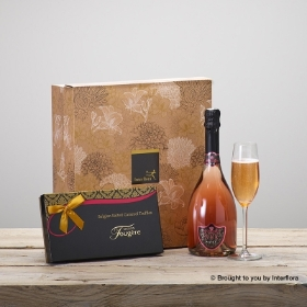 Sparkling Rosé and Salted Caramel Truffles Gift Set