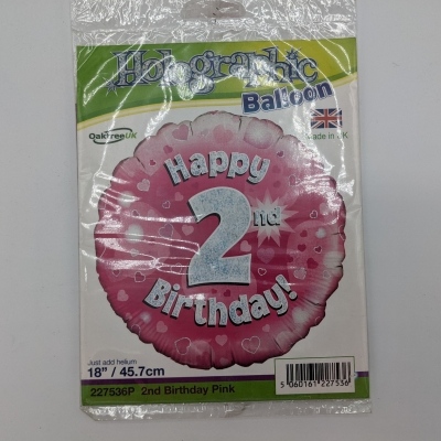 Happy 2nd Birthday (Pink) Balloon
